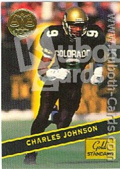NFL 1994 Signature Rookies Gold Standard - No 38 - Johnson