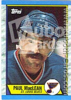 NHL 1989 / 90 Topps - No 129 - Paul MacLean
