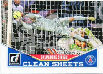 Fus 2015-16 Donruss Clean Sheets - No 10 - Salvatore Sirigu