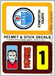 NHL 1979 / 80 Topps Team Inserts - No 7 - Edmonton Oilers