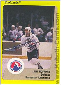 NHL 1989 / 90 ProCards AHL - No 281 - Jim Hofford