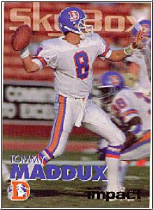 NLF 1993 SkyBox Impact Colors - No 91 - Tommy Maddux