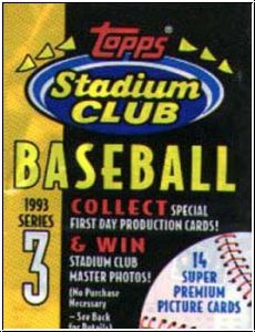 MLB 1993 Topps Stadium Club - Serie III