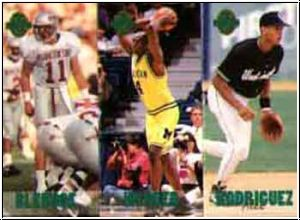 NBA 1993 Classic Four Sport Tri-Cards - No TC5 - TC10 - TC15