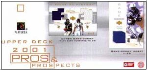 NFL 2001 Upper Deck Pros & Prospects