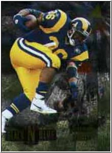 NFL 1995 Pinnacle Black`N Blue - No 6 of 30 - Jerome Bettis