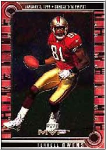 NFL 1999 Upper Deck MVP Drive Time - No DT9 - Terrell Owens