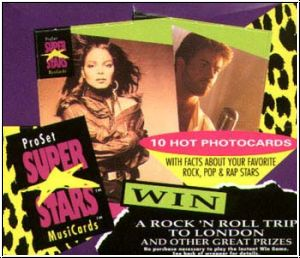 Superstars of Music 1991 ProSet Superstars of Music